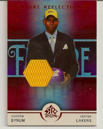 Andrew Bynum 2005-06 Upper Deck Reflections Red Rookie Card