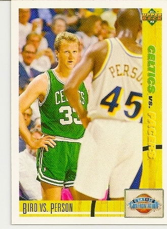 Larry Bird Vs Chuck Person 1991-92 Upper Deck Classic Confrontation