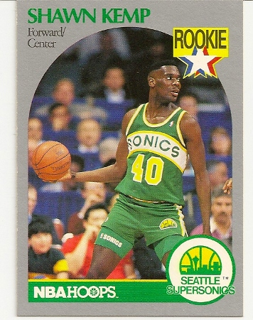 Shawn Kemp 1990-91 Hoops Rookie Card