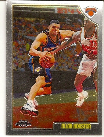 Allan Houston 1998-99 Topps Chrome Basketball Card