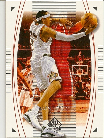 Allen Iverson 2003-04 Sp Authentic Basketball Card