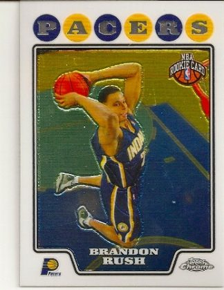 Brandon Rush 2008-09 Topps Chrome Rookie Card