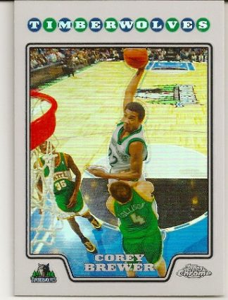 Corey Brewer 2008-09 Topps Chrome Refractor Card