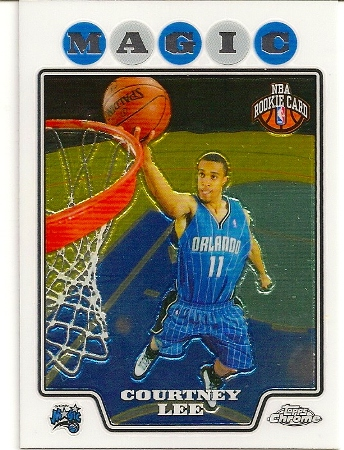 Courtney Lee 2008-09 Topps Chrome Rookie Card