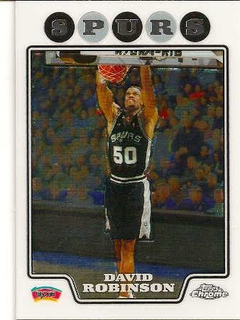 David Robinson 2008-09 Topps Chrome Basketball Card
