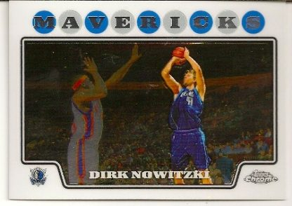 Dirk Nowitzki 2008-09 Topps Chrome Basketball Card