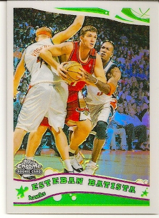 Esteban Batista 2005-06 Topps Chrome Refractor Rookie Card /999