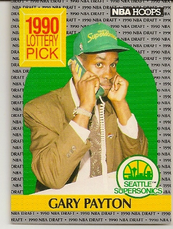 Gary Payton 1990-91 Hoops Rookie Card