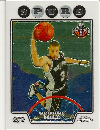 George Hill 2008-09 Topps Chrome Rookie Card