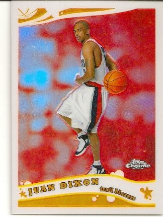 Juan Dixon 2005-06 Topps Chrome Refractor Rookie Card