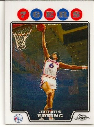Julius Erving 2008-09 Topps Chrome Basketball Card