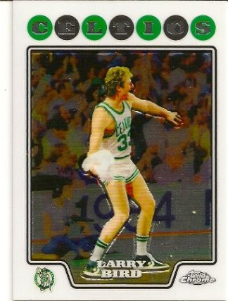 Larry Bird 2008-09 Topps Chrome Basketball Card
