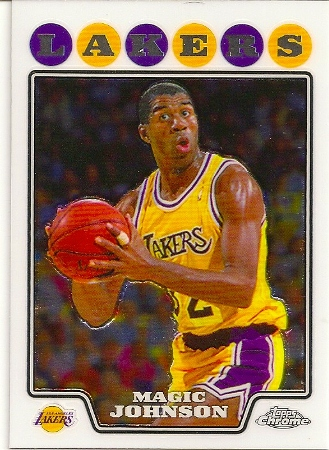 Magic Johnson 2008-09 Topps Chrome Basketball Card