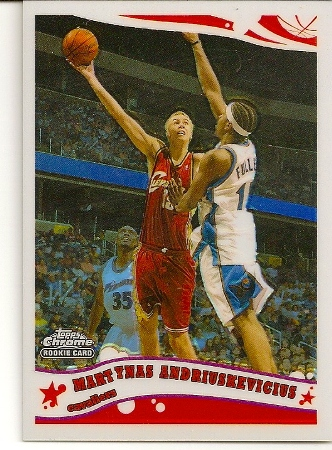 Martynas Andriuskevicius 2005-06 Topps Chrome Refractor Rookie Card