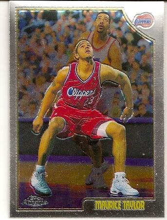 Maurice Taylor 1998 99 Topps Chrome Basketball Card