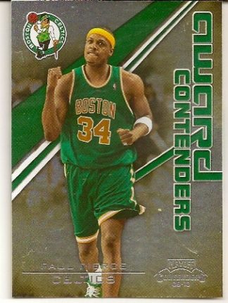 Paul Pierce 2009-10 Playoff Contenders Insert Basketball Card
