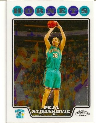 Peja Stojakovic 2008-09 Topps Chrome Basketball Card