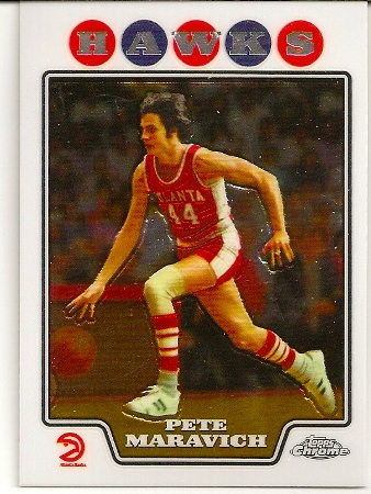 Pete Maravich 2008-09 Topps Chrome Basketball Card