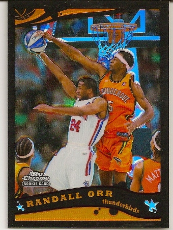 Randall Orr 2005-06 Topps Chrome Black Refractor Rookie Card /399