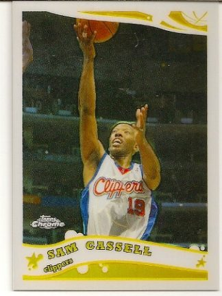 Sam Cassell 2005-06 Topps Chrome Refractor Card