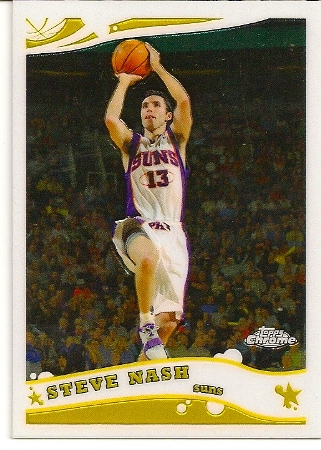 Steve Nash 2005-06 Topps Chrome Basketball Card