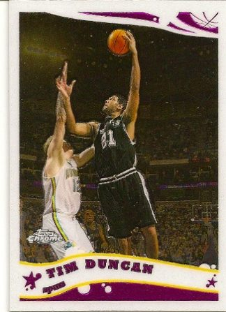 Tim Duncan 2005-06 Topps Chrome Basketball Card