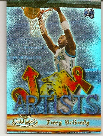 Tracy McGrady 2000-01 Topps Label Jam Artists Basketball Card