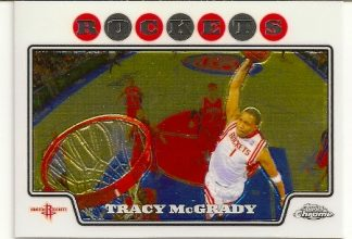 Tracy McGrady 2008-09 Topps Chrome Basketball Card