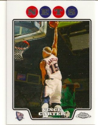 Vince Carter 2008-09 Topps Chrome Basketball Card
