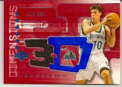 Wally Szczerbiak 2003-04 Triple Dimensions 3-D Warmups Basketball Card