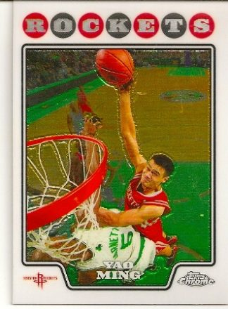 Yao Ming 2008-09 Topps Chrome Basketball Card