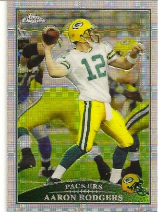 Aaron Rodgers 2009 Topps Chrome Xfractor Card
