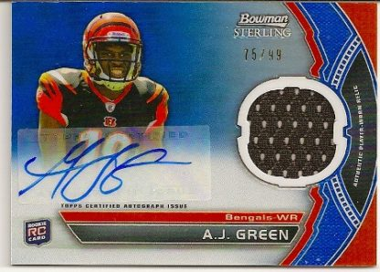 A.J. Green 2011 Bowman Sterling Autographed Rookie Relic Card