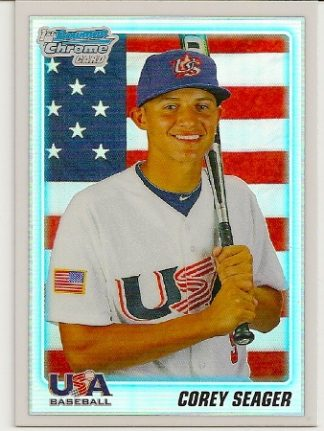 Corey Seager 2010 Bowman Chrome Refractor Rookie Card