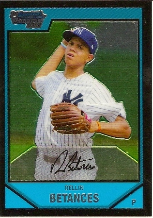 Dellin Betances 2007 Bowman Chrome Prospects Rookie Card