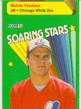 Larry Walker 1990 Fleer Soaring Stars Miscut Error Card