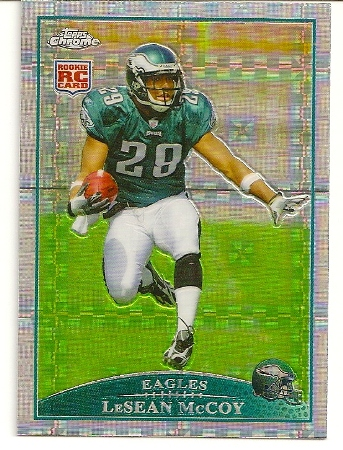 LeSean McCoy 2009 Topps Chrome Xfractor Rookie Card