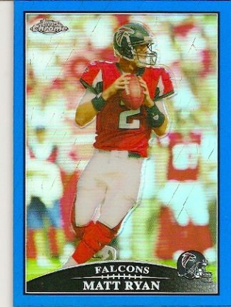 Matt Ryan 2009 Topps Chrome Blue Refractor Card
