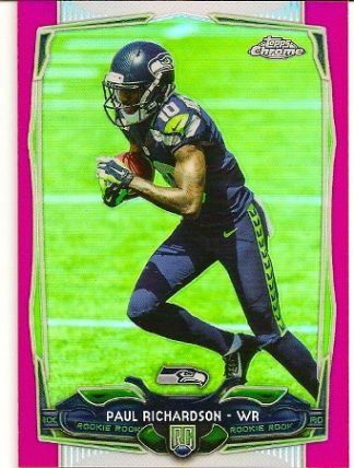 Paul Richardson 2014 Topps Chrome Pink Refractor Rookie Card