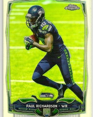 Paul Richardson 2014 Topps Chrome Refractor Rookie Card