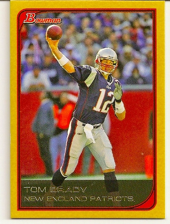 Tom Brady 2006 Bowman Gold Football Card