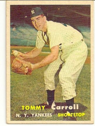 Tommy Carroll 1957 Topps Baseball Card VG-EX 4