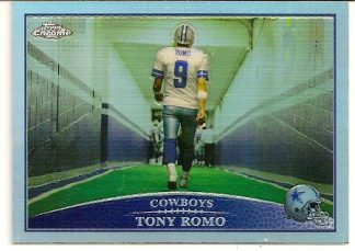 Tony Romo 2009 Topps Chrome Refractor Card