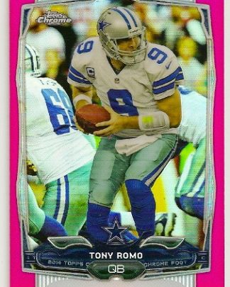 Tony Romo 2014 Topps Chrome Pink Refractor Card