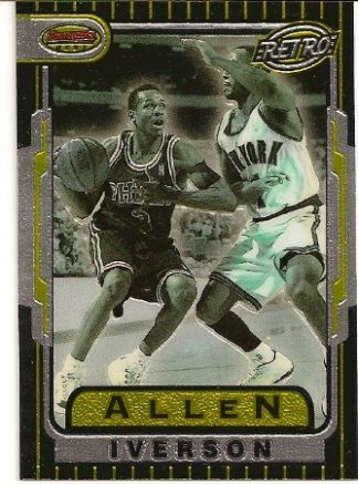 Allen Iverson 1996-97 Bowman's Best Retro Rookie Card