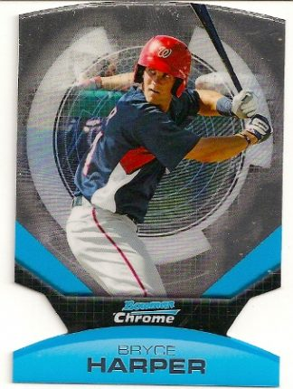 Bryce Harper 2011 Bowman Chrome Die-Cut Rookie Card