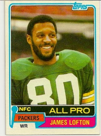 James Lofton 1981 Topps Football Card