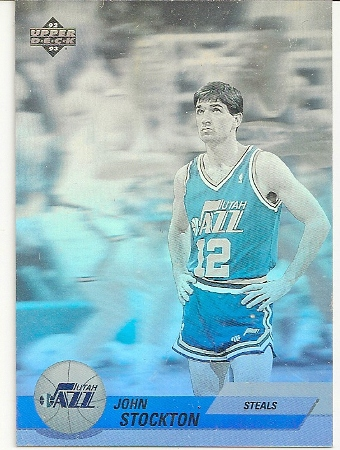 John Stockton 1992-93 Upper Deck Hologram Basketball Card