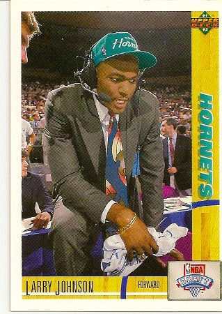 Larry Johnson 1991 92 Upper Deck Rookie Card