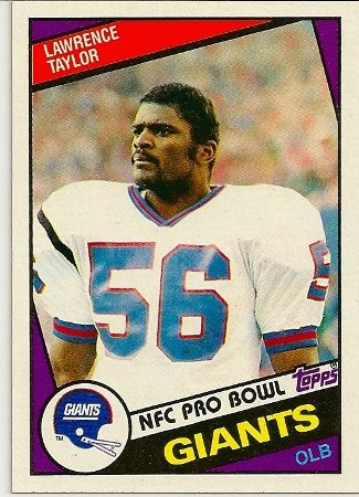 Lawrence Taylor 1984 Topps Football Card